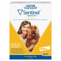 Sentinel Spectrum Yellow For Medium Dogs Chews 6 Pack
