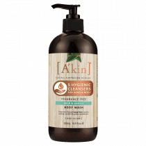 Akin Fragrance Free Mild & Gentle Body Wash 500ml