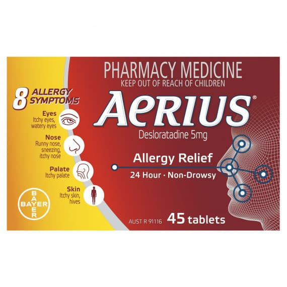 Aerius 5mg 45 Tablets