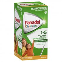Childrens Panadol Suspension 1-5 Yrs Colour-Free Orange 200ml