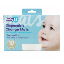 babyU Disposable Change Mats 10 Pack