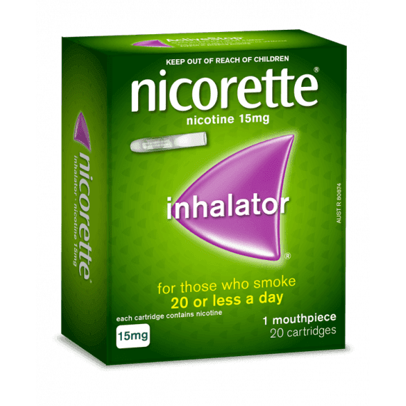 Nicorette Nicotine Inhalator 15mg 20 Cartridges