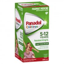Childrens Panadol Suspension 5-12 Yrs Colour-Free Strawberry 200ml