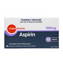 Mayne Pharma Aspirin 100mg 112 Tablets