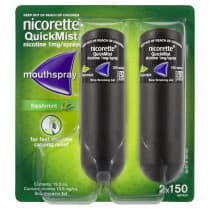 Nicorette Nicotine QuickMist Fresh Mint Spray 300 Sprays