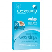 Waxaway Ready To Use Wax Strips Sensitive 20 Pack