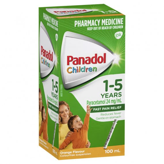 Panadol Children Suspension 1-5 Years Orange 100ml