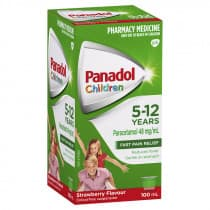 Panadol Children Suspension 5-12 Yrs Colour-Free Strawberry 100ml