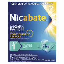 Nicabate Patches Clear 21mg 7 Days