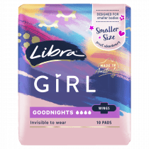 Libra Girl Pads Goodnights with Wings 10 pack