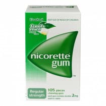 Nicorette Nicotine Gum Fresh Mint 2mg 105 Pieces
