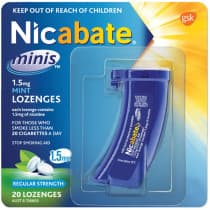Nicabate Mini 1.5mg Mint 20 Lozenges