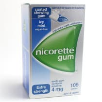 Nicorette Nicotine Gum Icy Mint 4mg 105 Pieces