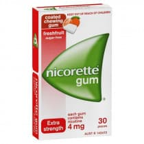 Nicorette Nicotine Gum Fresh Fruit 4mg 30 Pieces