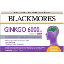 Blackmores Ginkgo 6000mg Tebonin 30 Tablets