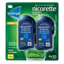 Nicorette Nicotine Lozenges Fruit 4mg 80 Lozenges