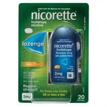 Nicorette Nicotine Lozenges Fruit 2mg 20 Lozenges